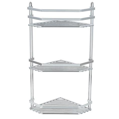 three tier bathroom shelf chrome 3 tier corner shower rack caddy bathroom shelf