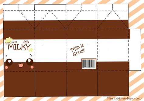 food papercraft template milk papercraft yeahhakunamatata