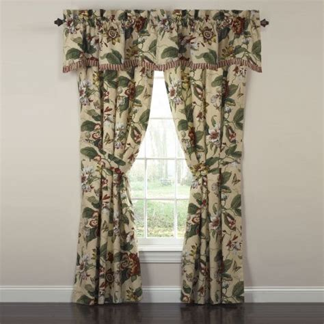 6 Inch Window Valances Waverly Laurel Springs Lined Window Valance 50 Inch Wide X