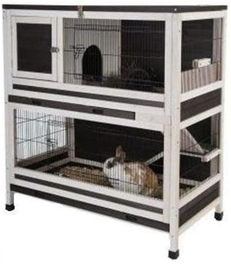 2 Storey Rabbit Hutch 28 163 174 99 Small Pet Cage Indoor Lounge 2 Storey Wooden Rabbits Or Guinea Pigs Hutch Accessible Via