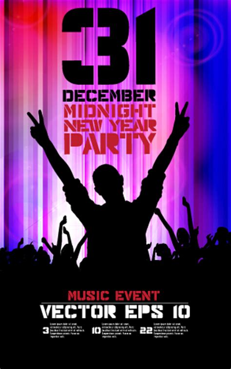 new year 2015 poster free 2015 new year midnight poster vector 03