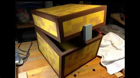 real life minecraft chest youtube