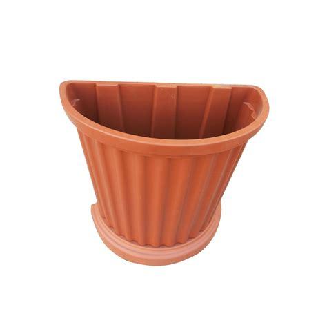 vaso a parete vaso in plastica marrone da appoggiare a parete completo