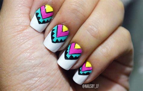 imagenes de uñas tribales decoracion de u 241 as tribal colorido laura trujillo youtube