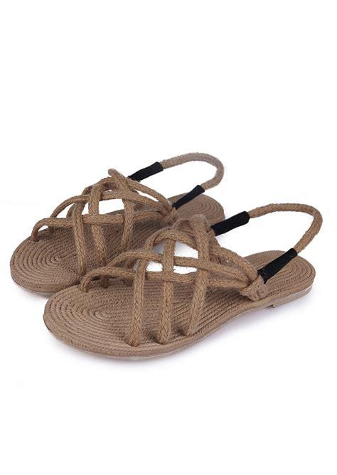 hemp rope sandals hemp rope cross sandals fairyseason