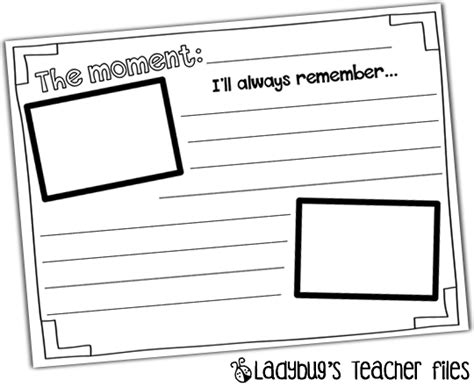 memory template yearbook printable ladybug s files