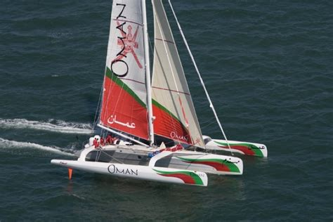 catamaran for sale oman trimaran sailing yacht oman air majan photo credit mark