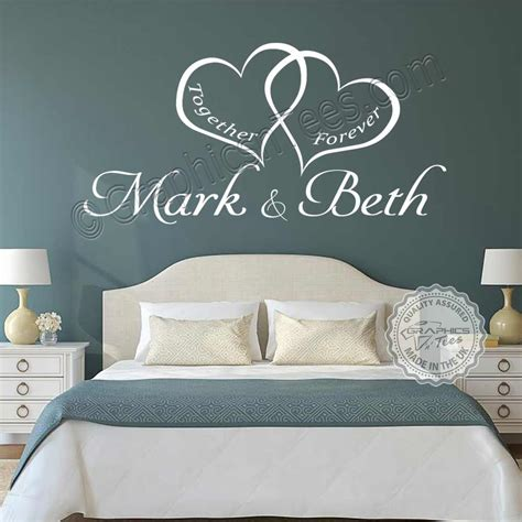 bedroom wall art personalised bedroom wall sticker   romantic love quote decor