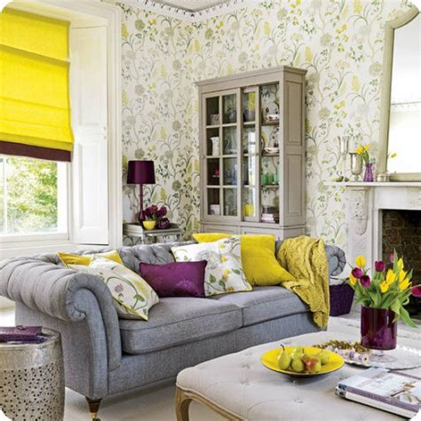 Yellow And Grey Room Decor by Yellow Gray Living Room Design Ideas