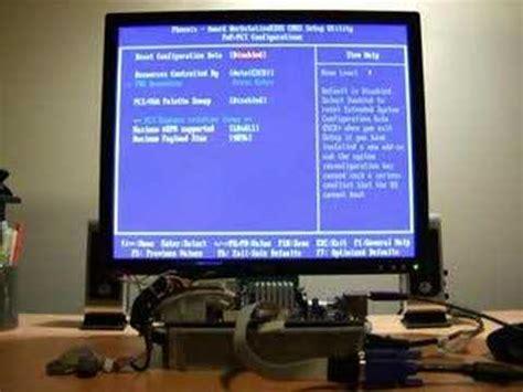reset bios vga hp mediasmart server vga header bios demo youtube