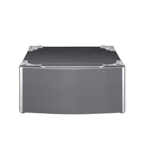 Lg Pedestal Graphite lg wdp5v 13 9 in laundry pedestal w storage drawer graphite steel sears outlet