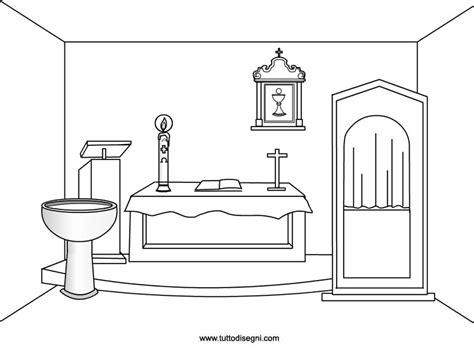 disegnare una libreria chiesa oggetti sacri da colorare tuttodisegni