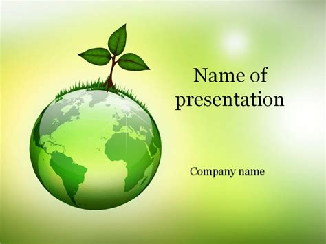 eco world powerpoint template background for presentation