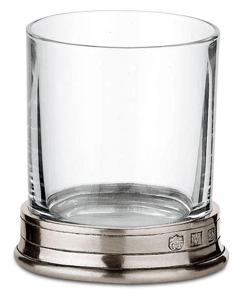 bicchieri grappa bicchiere grappa grigio metallo peltro e cristallo