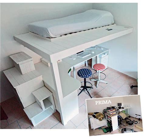 costruire una scrivania in legno costruire un letto a soppalco fai da te con scrivania dedicata