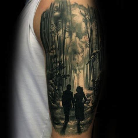 forest tattoo sleeve forest designs ideas and meaning tattoos for you