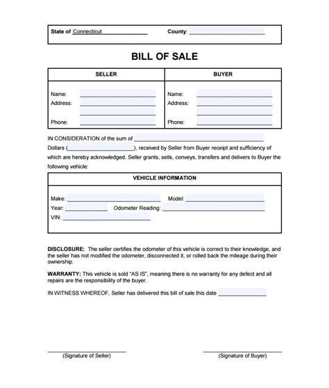 blank simple printable bill of sale form template pdf firearm
