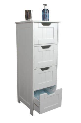 Slim Bathroom Storage Cabinet Slim White Wood Storage Cabinet Four Drawers Bathroom Clementine Croston