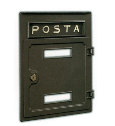 cassetta della posta da incasso cassetta postale da incasso in ottonefonderia innocenti