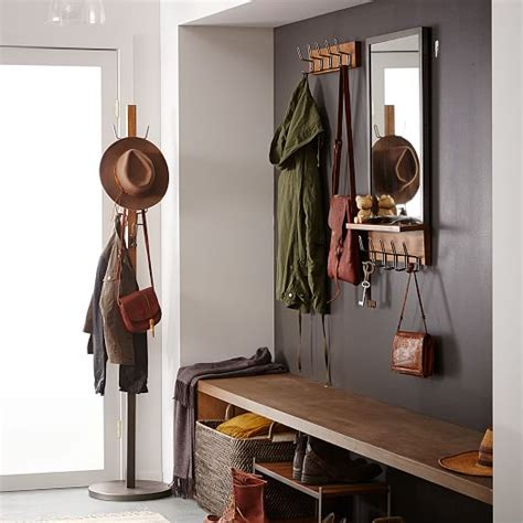 industrial coat rack west elm