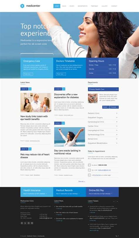wordpress theme free hospital 5 feature rich hospital wordpress themes