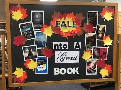 Library Displays Fall Into A Good Book Fall Into A Book Template