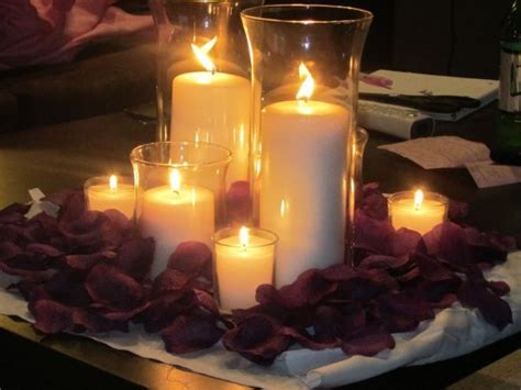 Ideas On Inexpensive Wedding Centerpieces With Candles Wedding Candle Centerpieces On A Budget