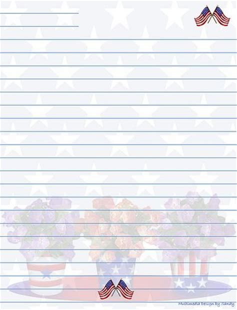 free printable patriotic lined paper 105 best 4th of july sationery images on pinterest flags
