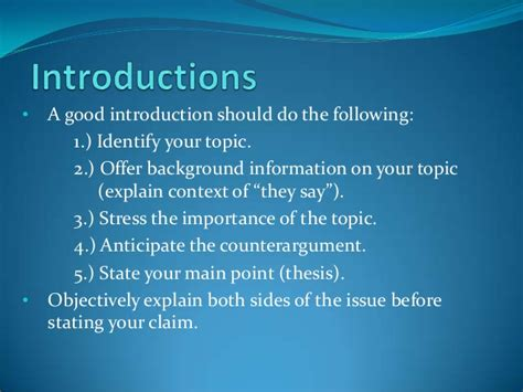 how to write a introduction for a research paper eng 101 research paper writing introductions and thesis