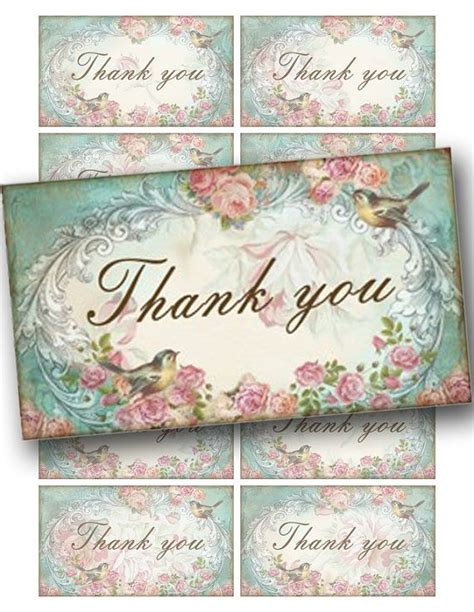 free printable thank you cards vintage 34 best images about shabby chic printables on pinterest