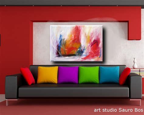 quadro soggiorno quadro astratto per soggiorno rosso e bianco sauro bos