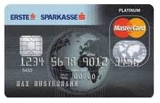 sparkasse erste bank s mastercard platinum ab 111 48 eine mastercard