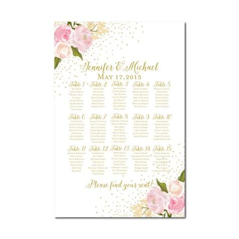 foral wedding planner printable wedding planner printables i do wedding seating chart rustic wedding floral wedding