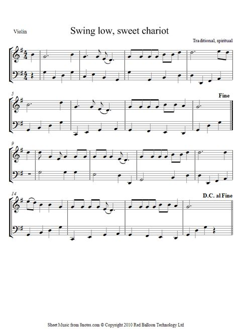 swing low noten violin cello duet swing low sheet 8notes