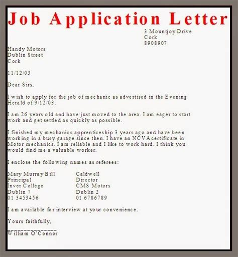 application letter work pressure application letter format sle letters font
