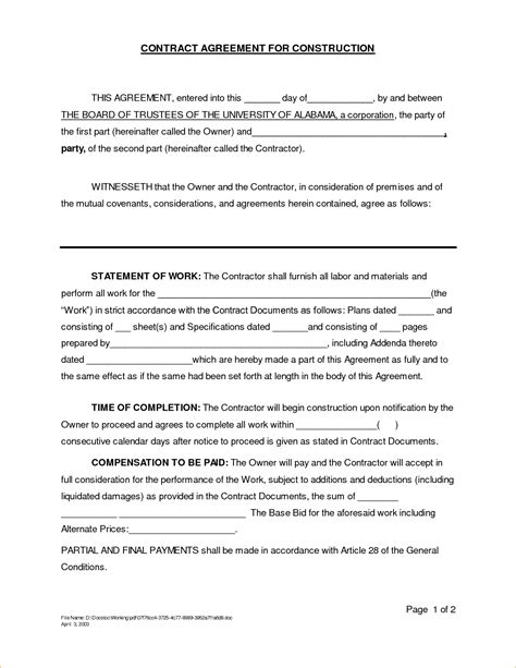 Construction Contract Template Tryprodermagenix Org Construction Liquidated Damages Letter Template