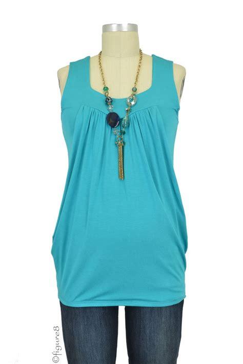 Slit Blouse Plain Basic Polos Baju Wanita Atasan Bluss Tunik baju jackie sleeveless shape nursing top in jade