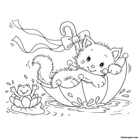 cat coloring pages free large images