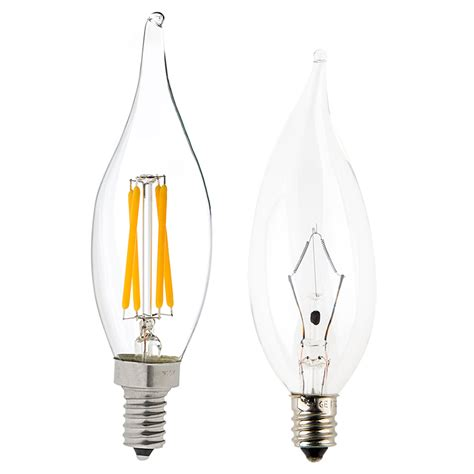 candelabra led bulbs ca10 led filament bulb 40 watt equivalent candelabra led
