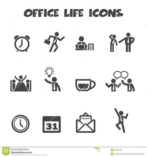 bureau de la vie 騁udiante ic 244 nes de la vie de bureau illustration de vecteur image