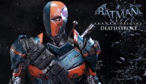 image deathstroke origins jpg arkham batman arkham origins deathstroke statue revealed