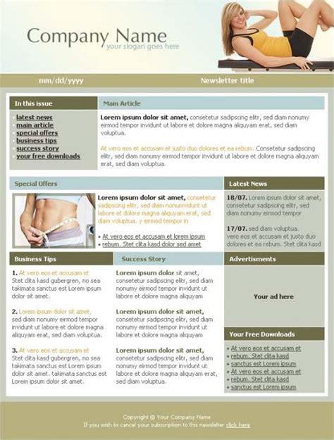 Fitness Newsletter Template Templatesbox Com Free Fitness Newsletter Templates