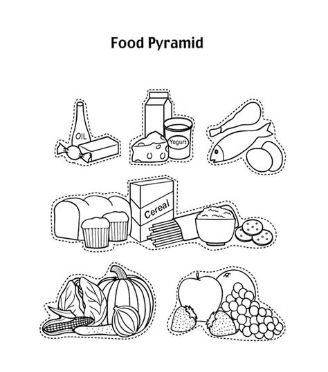 Food Groups Coloring Pages Fruit Pictures For Kids Coloring Home