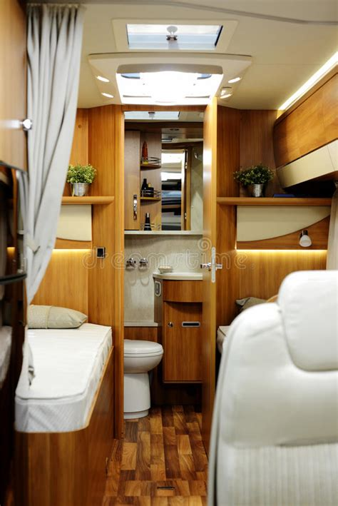 new motor home inside view stock image image of park