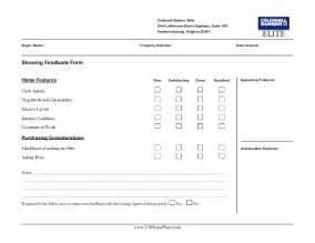 Real Estate Listing Form Template Matthew Rathbun Showing Feedback Form