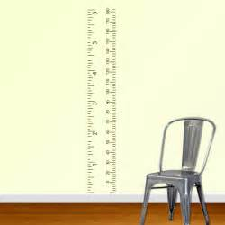 metric growth chart wall decal measurement child ruler sticker