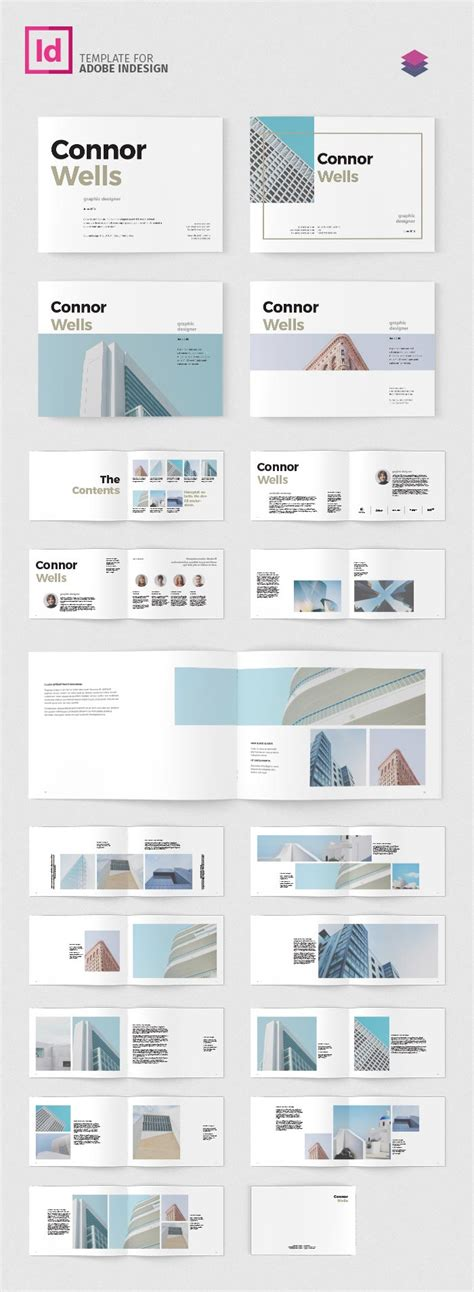 Portfolio Booklet Landscape Adobe Indesign Templates Indesign Landscape Template