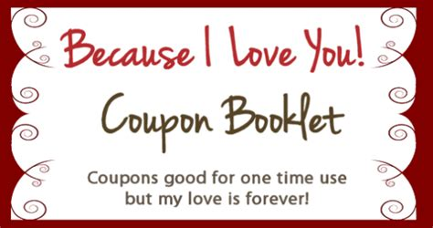 free custom printable love coupons 10 valentines day coupon book free printables