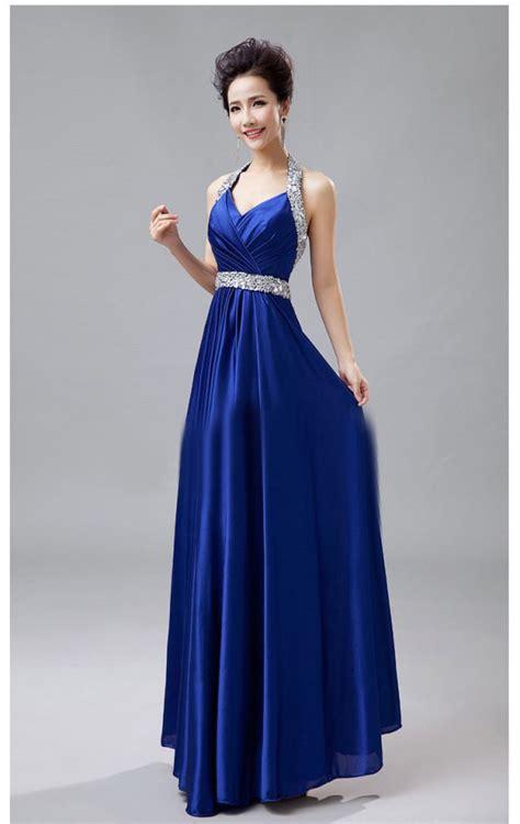 imagenes vestido negro con azul vestidos largos elegantes de graduacion azules