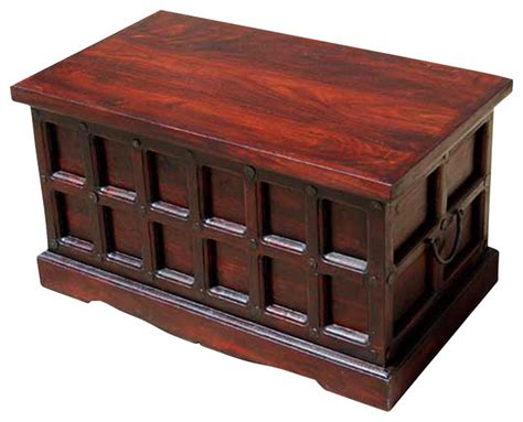 Cherry Coffee Table With Storage Cherry Wood Storage Chest Trunk Box Coffee Table Traditional Coffee Tables